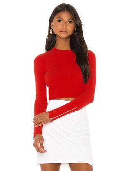 Monroe Sweater In Red Orange by Camila Coelho
