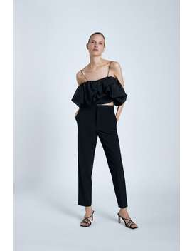 Cropped Volume Top by Zara
