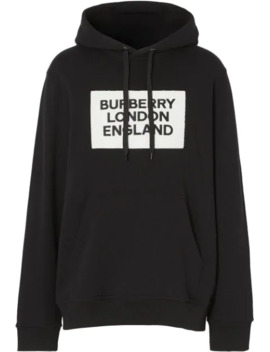 Logo Appliqué Hoodie by Burberry