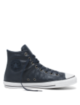 Chuck Taylor All Star Leather High Top Dark Obsidian by Converse
