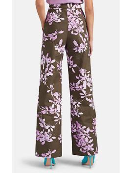 Floral Denim Wide Leg Trousers by Dries Van Noten