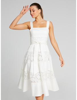 Cora Spliced Lace Dress by Portmans