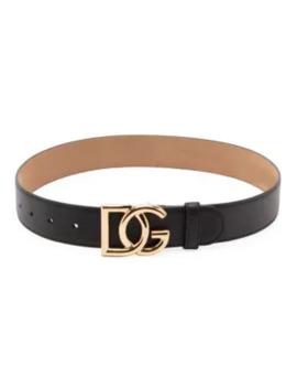 Dg Logo Smooth Leather Belt by Dolce & Gabbana