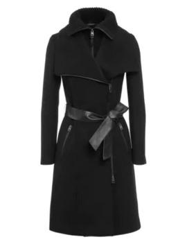 Nori Double Collar Wool Blend Coat by Mackage