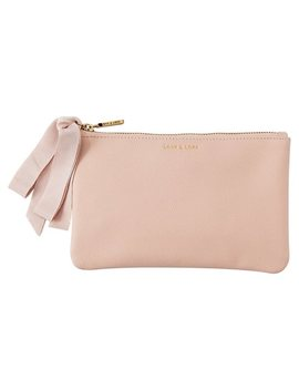 <Div>Love And Lore Medium Bow Pouch Pink</Div> by Love & Lore