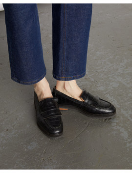 Rhea Chunky Leather Loafer by Jigsaw