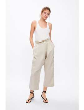 Wrap Cargo Trousers by Zara