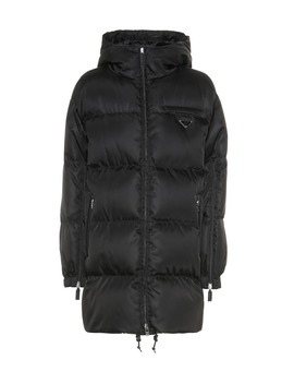 Down Nylon Gabardine Coat by Prada