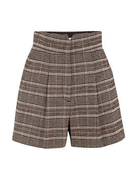 Boucle Plaid Short In Sand by Trilogy