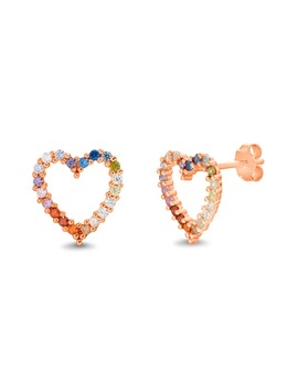 Crystal Heart Earrings by Lesa Michele