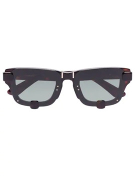 Yp4 C3 Tortoiseshell Effect Sunglasses by Linda Farrow
