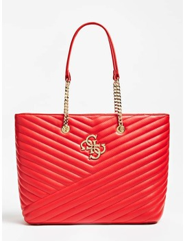 Corinne 4 G Logo Quilted Look Shopper by Guess