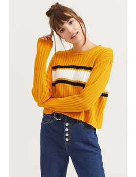 Mustard Yellow Cropped Sweater by Ardene