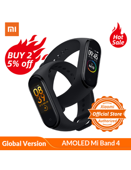 Global Version Xiaomi Mi Band 4 Smart Watch Heart Rate Fitness Activity Tracker Bracelet Colorful Display Smart Band 135 M Ah by Ali Express.Com