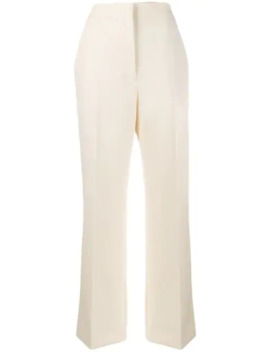 High Waisted Straight Leg Trousers by Alberta Ferretti