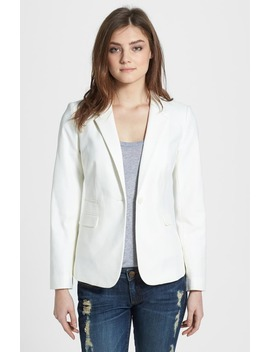 Stretch Cotton One Button Blazer by Vince Camuto