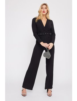 Double Breasted Belted Blazer Jumpsuit by Urban Planet