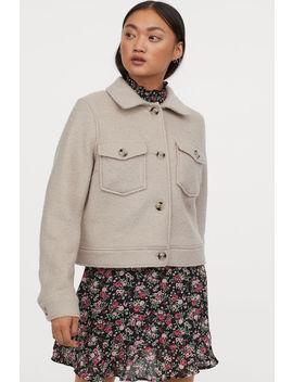 Yünlü Kısa Ceket by H&M