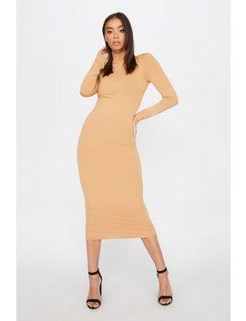 Turtleneck Long Sleeve Bodycon Midi Dress by Urban Planet