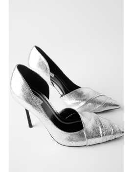Metallic High Heel Shoes by Zara