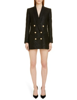 Double Breasted Tweed Blazer Dress by Balmain