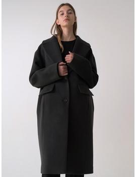 Wool Coat  Deep Gray by Moia