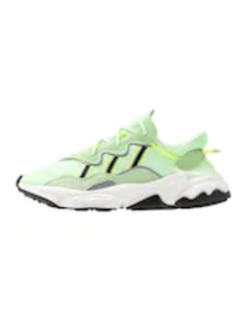 Ozweego Adiprene+ Running Style Shoes   Trainers   Glow Green/Core Black/Solar Yellow by Adidas Originals