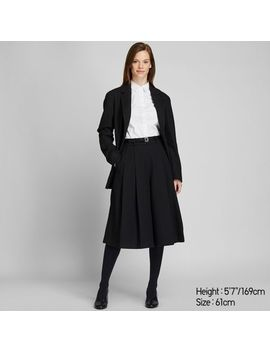 Women High Waisted Tweed Culottes Pants by Uniqlo