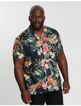 Big & Tall Floral Tiger Shirt by Burton Menswear