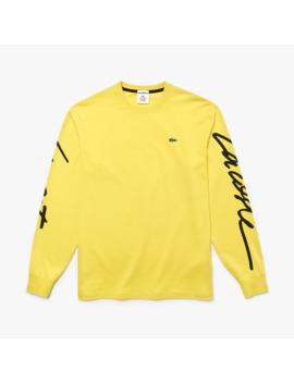 Unisex Lacoste Live T Shirt Mit Signatur Print by Lacoste