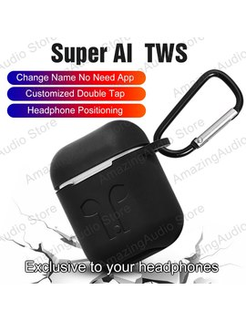 Super Ai Tws Aire2 Bluetooth 5.0 Earphone Headphones With Change The Name Earbuds Positioning In Ear Detection Wireless Headsets by Ali Express.Com