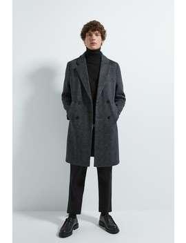 Two Tone Knit Coat by Zara