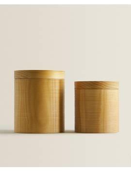 Wooden Box With Raised Design  Bath Mats   Bathroom by Zara Home