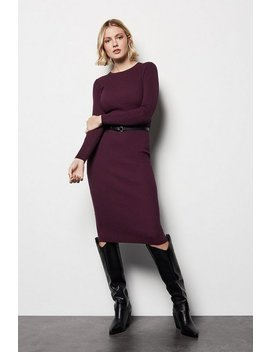 Skinny Rib Knit Dress Skinny Rib Knit Dress by Karen Millen