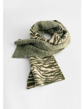 Fuzzy Zebra Wool Blend Scarf by & Other Stories