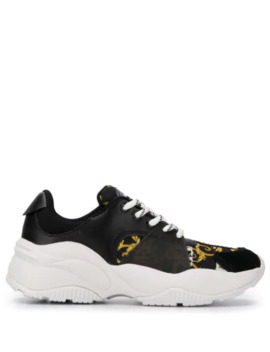 Baroque Print Sneakers by Versace Jeans Couture