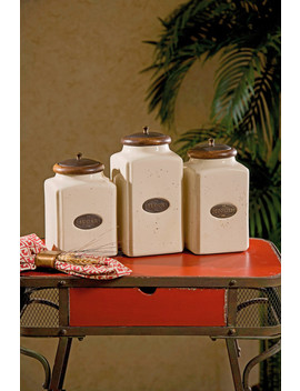 Ivory Canisters, 3 Piece Set by Imax Worldwide Home
