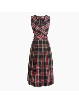 Tartan V Neck Dress by J.Crew