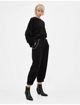 Corduroy Slouchy Trousers by Bershka