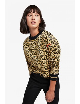 Amy Winehouse Leopard Print Sweatshirt by Fred Perry