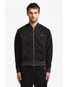 Miles Kane Flock Leopard Track Jacket  by Fred Perry