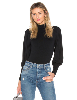 Pleat Sleeve Bodysuit by Only Hearts