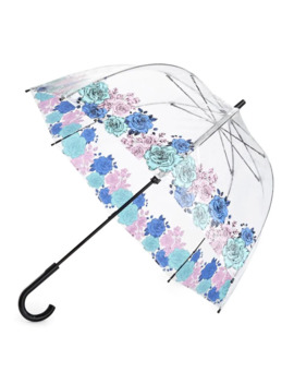 Butterfly And Bird Clear Walking Umbrella by Fulton