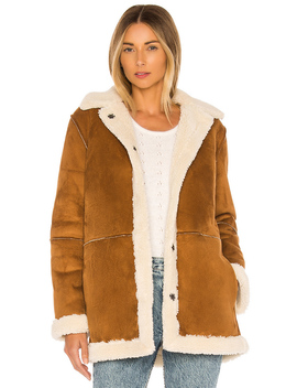 Kailani Faux Suede Sherpa Coat by Velvet By Graham & Spencer