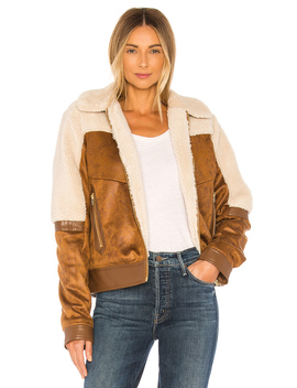 Faux Fur & Vegan Leather The Trapper Keeper Jacket by Mother