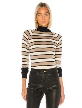 Turtleneck Raglan Shirttail Sweater by Chaser