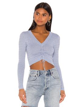 X Draya Michele Karline Ruched Sweater by Superdown
