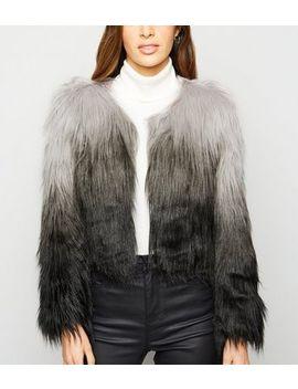 Urban Bliss Light Grey Faux Fur Jacket by New Look