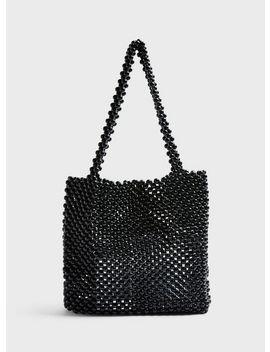 Black Beaded Bag by Miss Selfridge