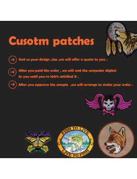 Custom Embroidery Patches Iron On Hook Backing With Your Own Logo Design Personalized Team Club School Logo by Ali Express.Com